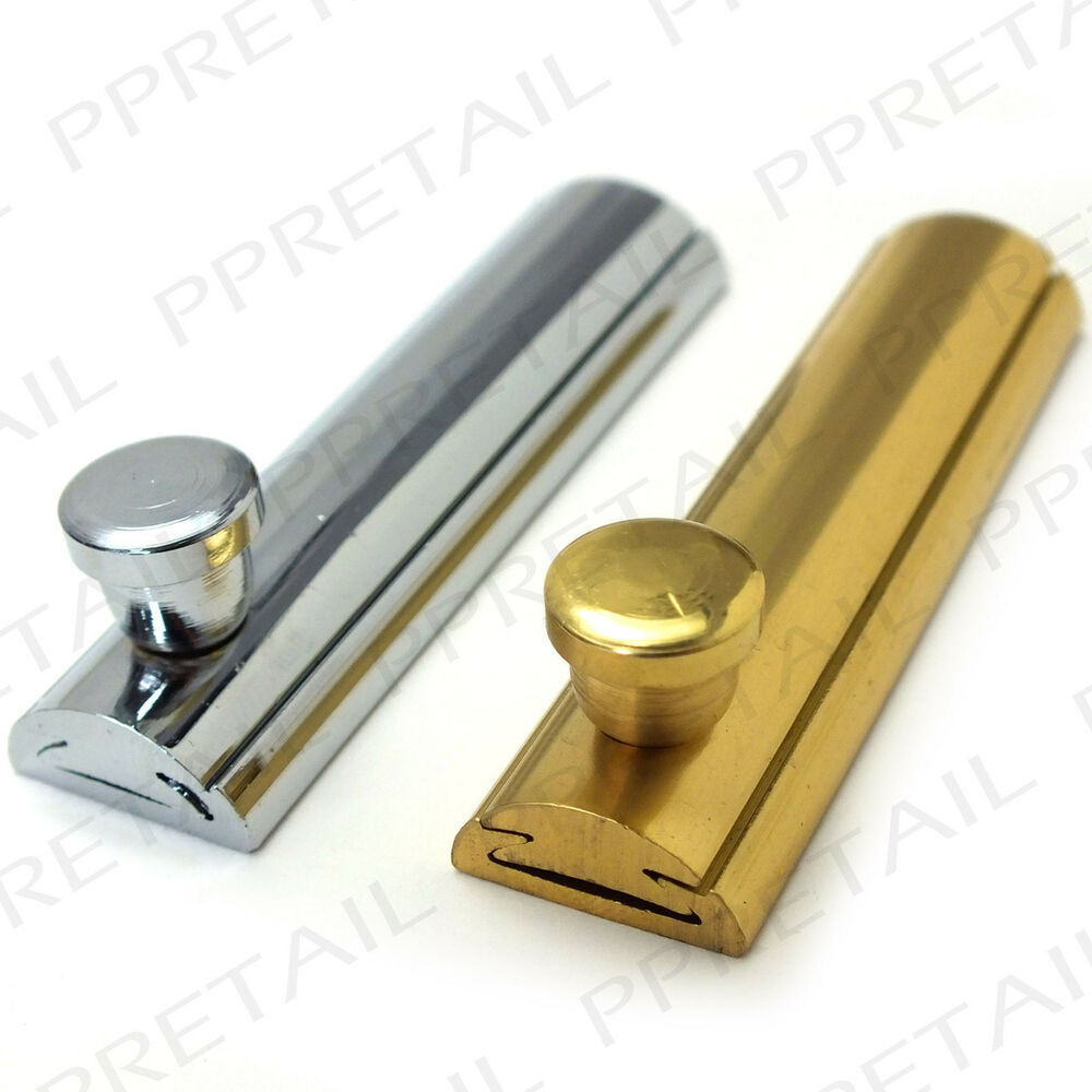 Quality Slide Cabinet Bolt 63mm Brass Chrome Cupboard