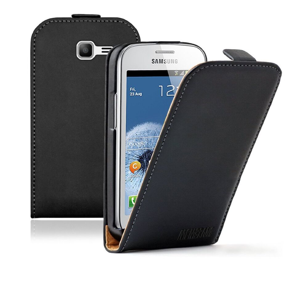 Ultra slim leather case cover for samsung galaxy fresh trend lite gt s7392 duos ebay - Smartphone galaxy trend lite ...