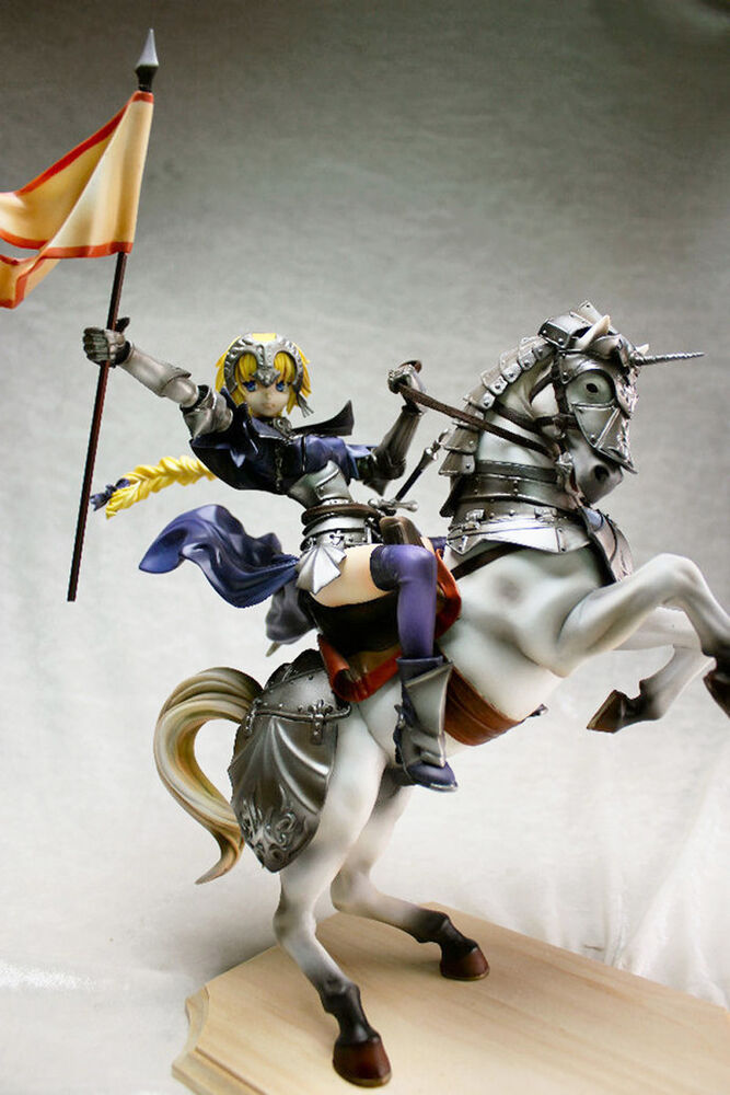 jeanne d u0026 39  arc fate    apocrypha on horse 1  7 unpainted figure model resin kit