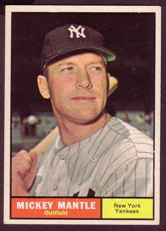 1961 topps mickey mantle card no 300 near mint ebay. Black Bedroom Furniture Sets. Home Design Ideas