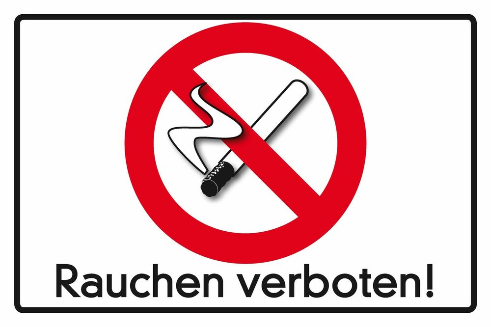 blechschild rauchen verboten warnschild nichtraucher 20x30 cm 23047 ebay. Black Bedroom Furniture Sets. Home Design Ideas