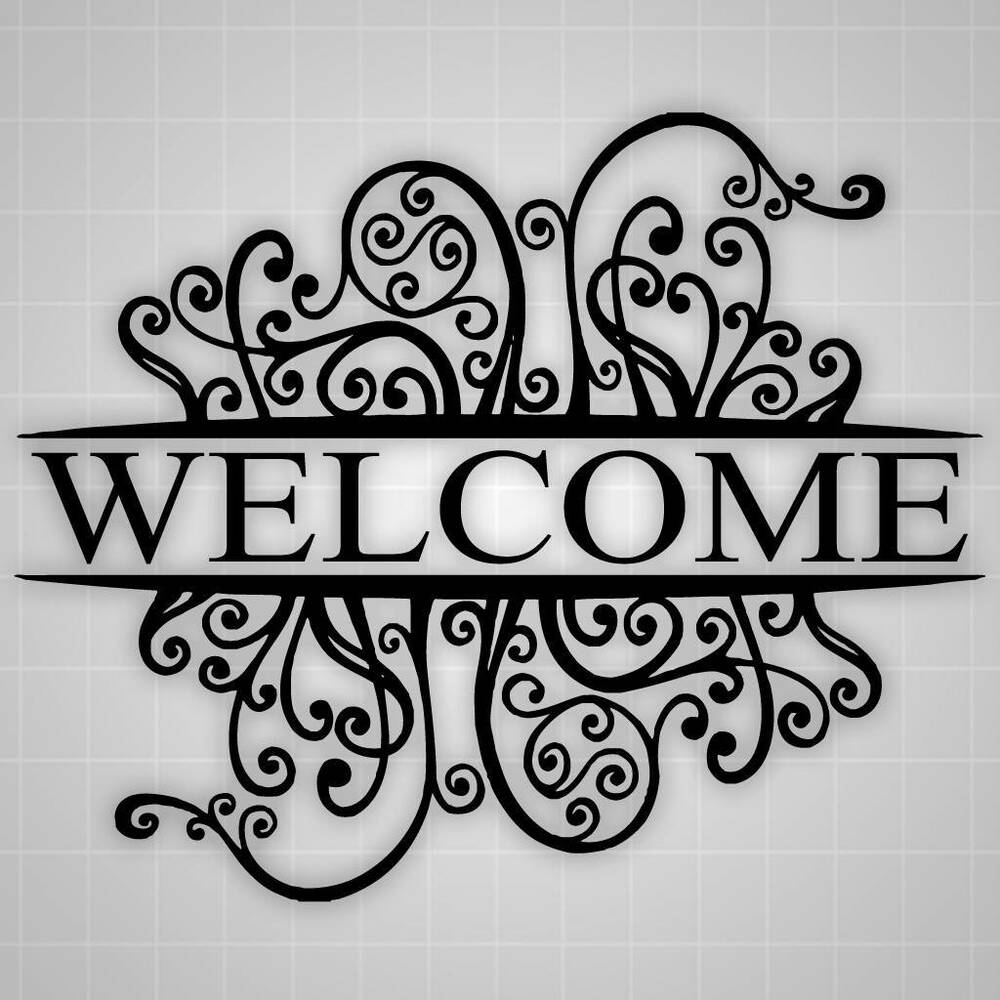 Welcome Wall Decal, Welcome Decor, Decorative Sticker, 26 ...
