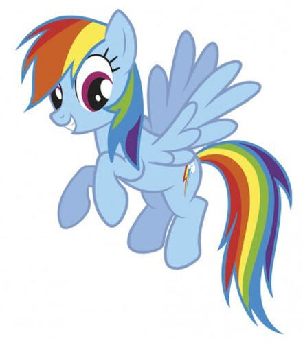 my little pony rainbow dash wall stickers mural 19 decals. Black Bedroom Furniture Sets. Home Design Ideas