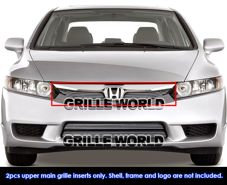 For 2010 Honda Civic 4 Door Sedan Hybrid Billet Grille Ebay