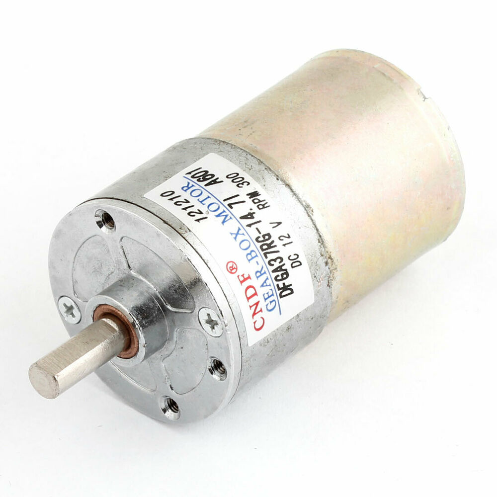 12v dc 300rpm 6mm shaft magnetic electric gear box motor for Electric motor shaft repair