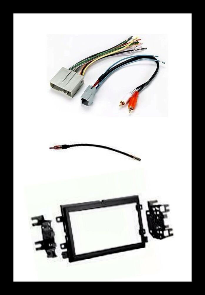 double din stereo radio install kit wire harness antenna