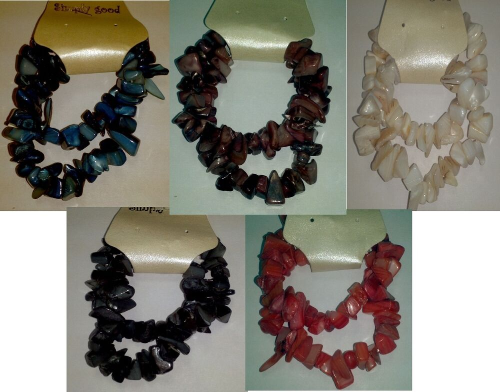 Wholesale lot 12 new fashion jewelry shell stretch for Costume jewelry sold by the dozen