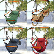 Hammock Hanging Chair Air Deluxe Sky Swing Outdoor Chair Solid Wood 250lb $19.99 + free shipping