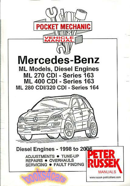 Mercedes Ml Shop Manual Service Repair Book Ml400 Ml270