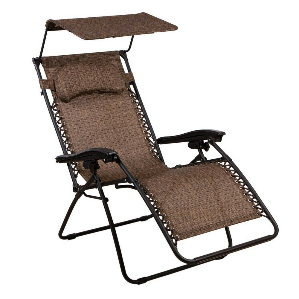 Zero Gravity Chair Oversized lounge Chair with Canopy by