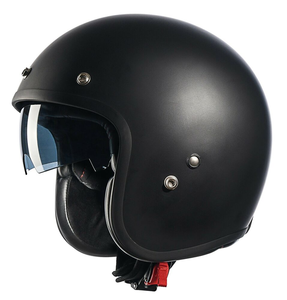 helmet motorcycle face open scooter cruiser shield matte bobber glx retro dot visors helmets sun half