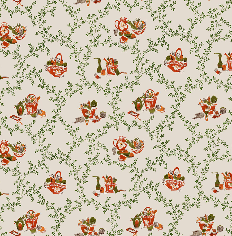 Dolls House Wallpaper 1/12th 1/24th Scale Kitchen Vintage
