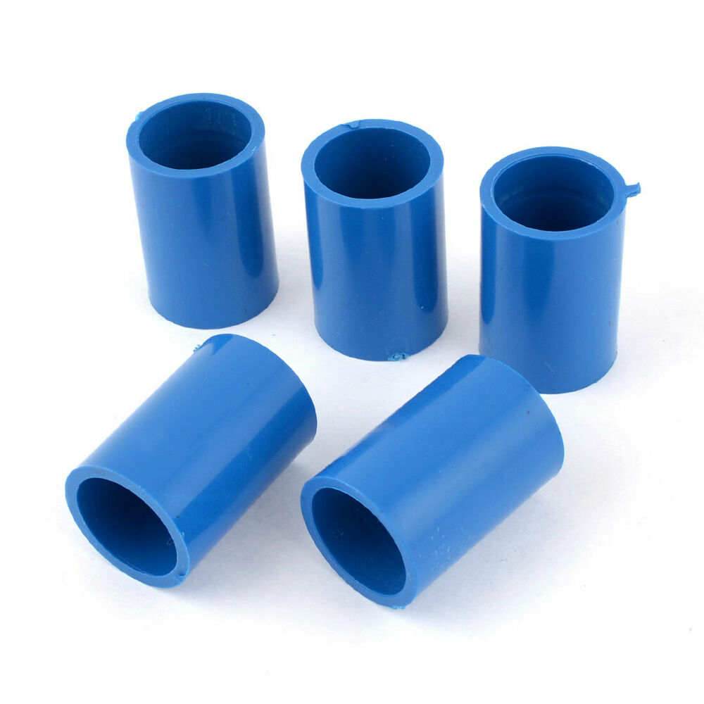 Pvc Pipe: 5 Pcs 20mm Inner Dia Straight PVC Pipe Connectors Fittings
