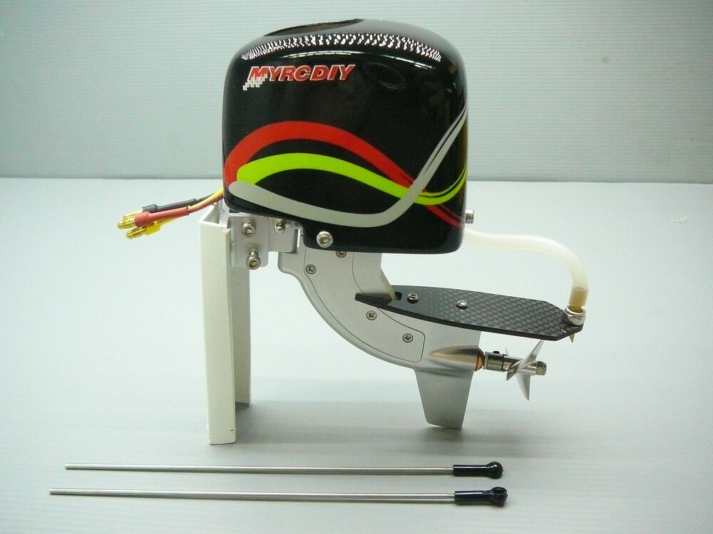 Vxp rtr cnc outboard brushless w motor prop watercool for Electric outboard boat motors reviews