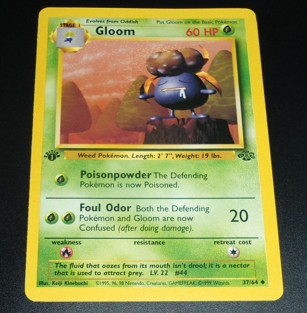 Pokemon Card GLOOM 37/64 1st Edition Jungle Set Uncommon ...