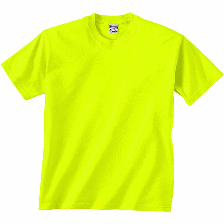 12 t shirts gildan safety green orange ansi high for Bulk neon t shirts
