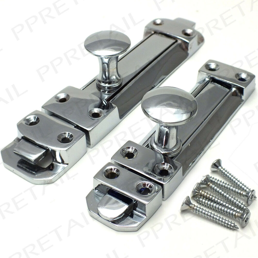 Heavy duty chrome door bolt 100 150mm quality security for Surface lock