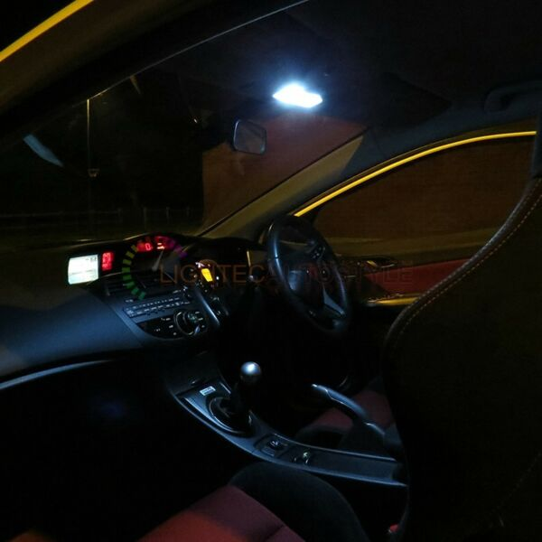 VW Polo 9N 264 42mm Red Interior Boot Bulb LED High Power Light Upgrade