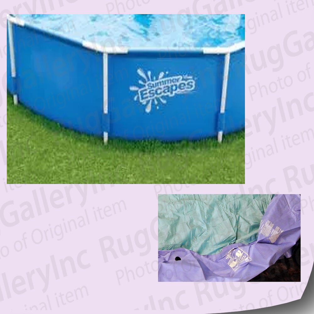 Summer escapes pool liner 12 39 x30 metal frame replacement swimming m p20 1230 a ebay - Steel frame pool ...