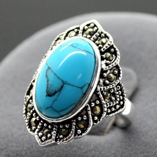 tibetan turquoise 925 sterling silver ring jewelry