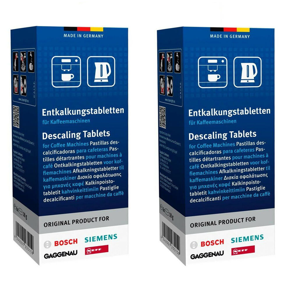 12xBOSCH Tassimo Descaler Descaling Tablets Coffee Maker Machine Decalcifier eBay