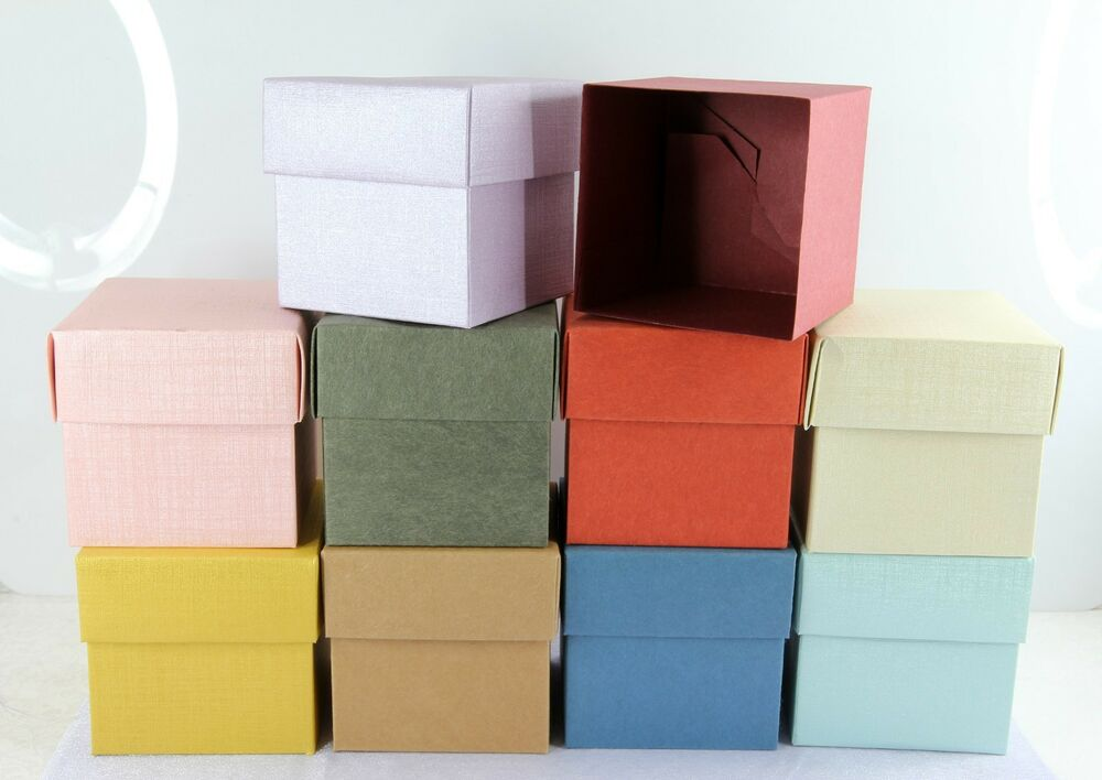 """Favor Gift Boxes: 4""""x4"""" Square Cube Favor Box With Lid,Wedding Bridal Baby"""