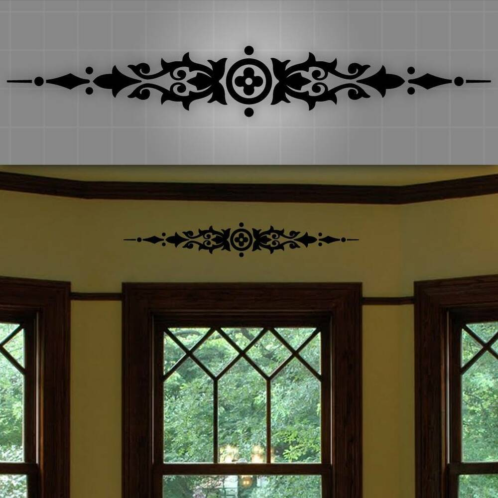 Decorative Window Accent Decal, Door Accent Sticker, Wall