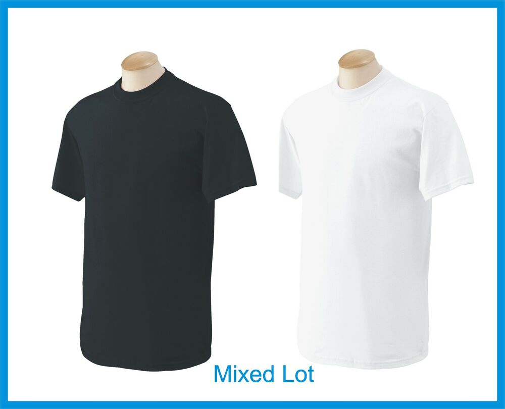 T-SHIRTS Blank 50 Black 50 White BULK LOT S-XL Wholesale ...
