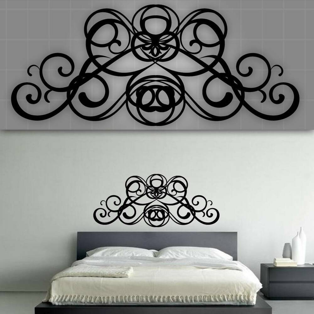 decorative headboard wall decal bedroom wall decor 48