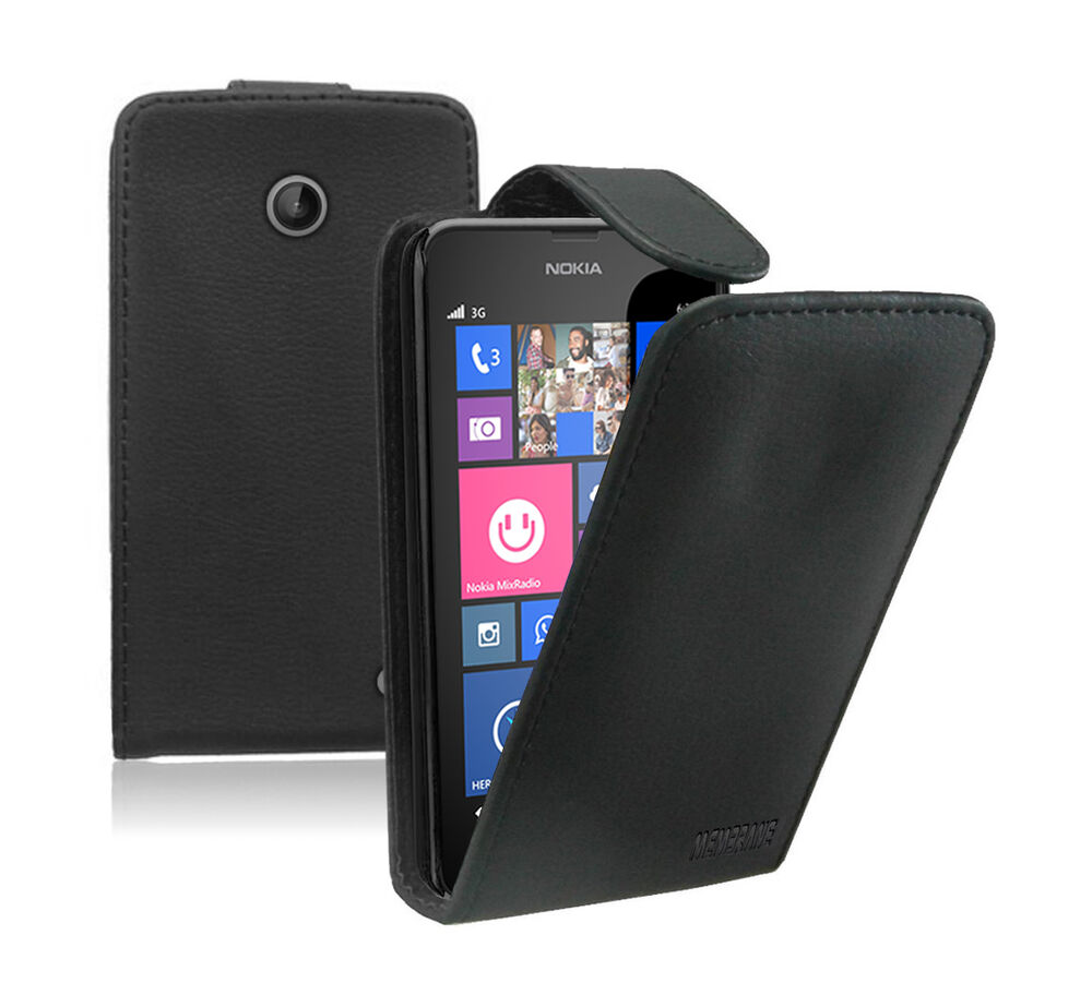 Leather Flip Case Cover Pouch For Mobile Phone Nokia Lumia