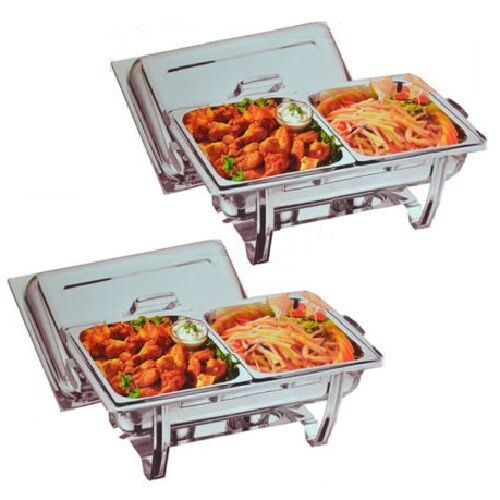 Party Food Warmers ~ Two omega chafing dishes with half size food pans free
