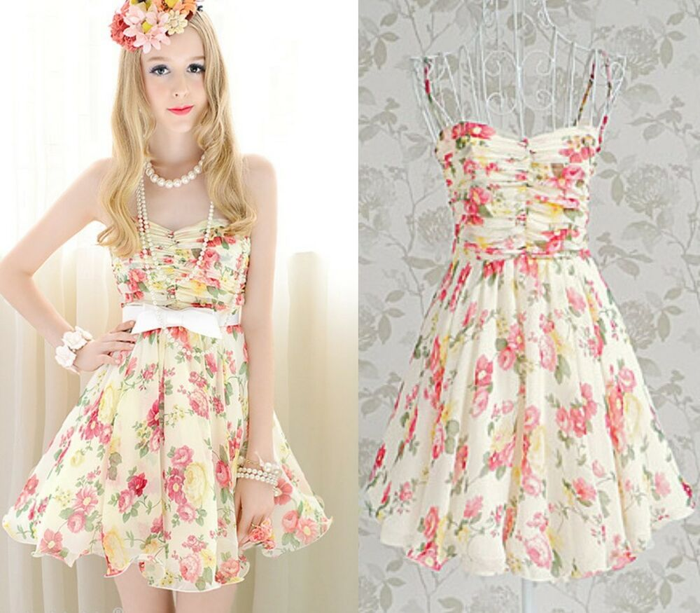 Elegant Cute Kawaii Princess Sweet Women Lolita Slim ...