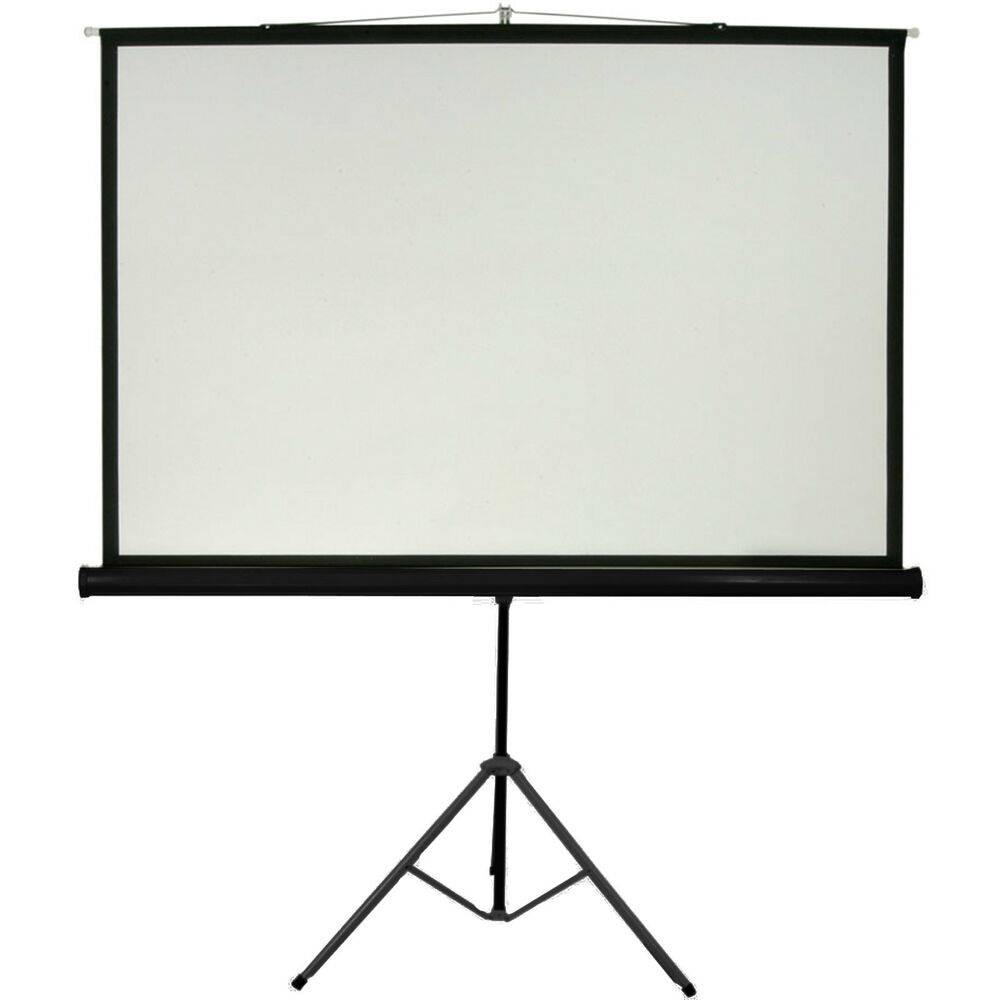 120 tripod floor standing pull up projector screen 4 3 for Free standing screen