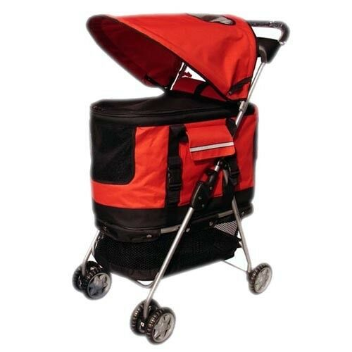 New Red Ultimate 4 In 1 Pet Stroller Carrier Carseat Ebay