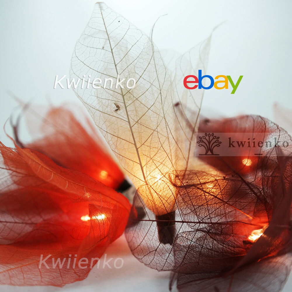 20 Earth Tone Bodhi Leave Flower Fairy Lights String Party Patio Home Decor Ebay