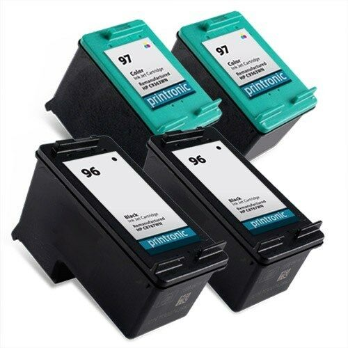 4pk hp 96 97 ink cartridge c8767wn c9363wn deskjet 6540 6620 6830 6840 6940 9800 ebay. Black Bedroom Furniture Sets. Home Design Ideas