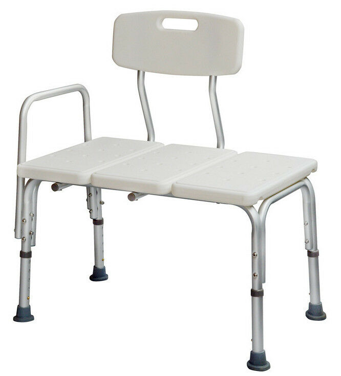 Medical adjustable bathroom bath tub shower transfer bench stool chair bath seat ebay Transfer bath bench