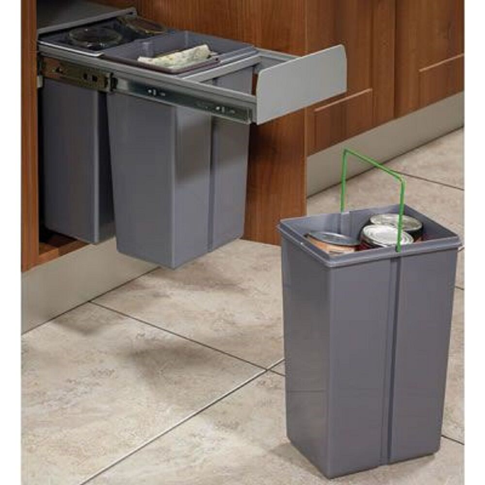 Kitchen Waste Bins: RECYCLE BIN PULL OUT KITCHEN CUPBOARD CABINET WASTE BIN
