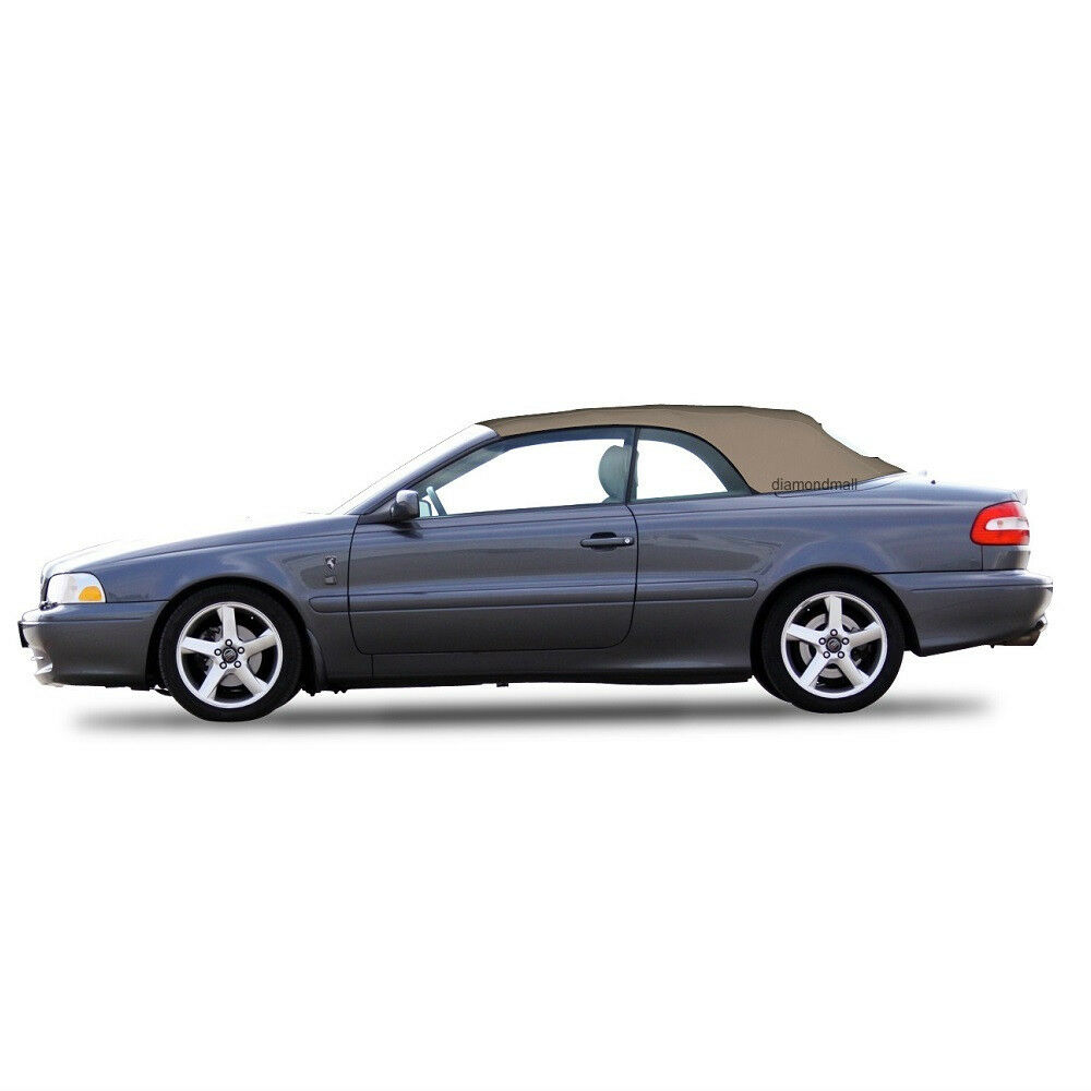 volvo c70 convertible soft top replacement glass window 1999 06 beige stayfast ebay. Black Bedroom Furniture Sets. Home Design Ideas