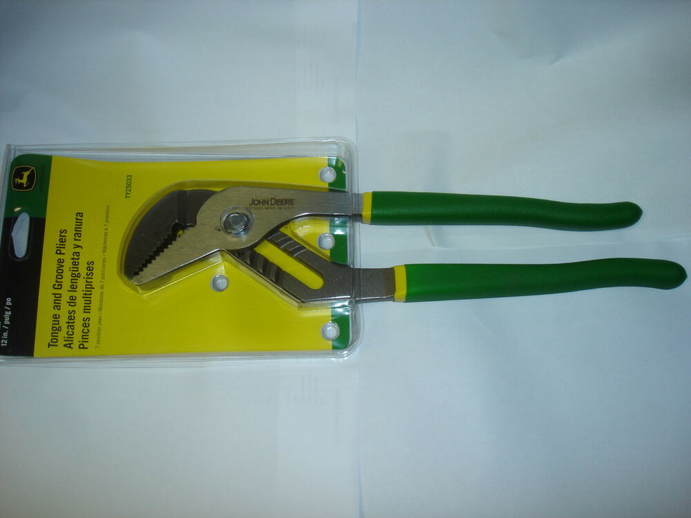 John Deere Hand Tools : New john deere tongue and groove pliers inch pipe