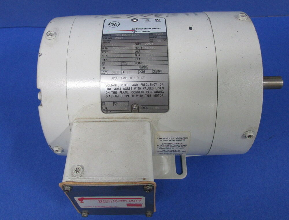 Ge commercial motors 5ks42mn4590a ac motor 3 phase 460v for Ge commercial motors 5kcp39fg