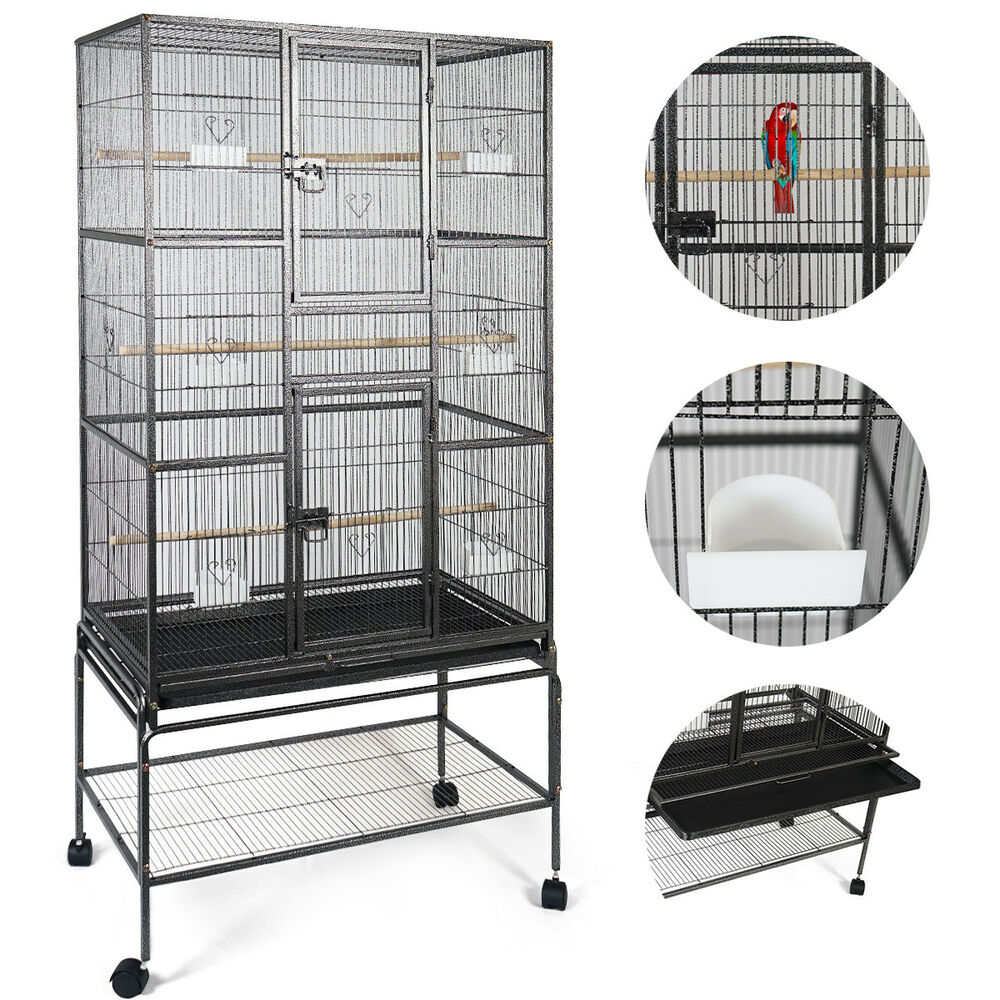 New Bird Parrot Cage Chinchilla Cockatiel Conure Large W/Stand \u0026 Two Doors 6952938339148 | eBay  sc 1 st  eBay & New Bird Parrot Cage Chinchilla Cockatiel Conure Large W/Stand \u0026 Two ...