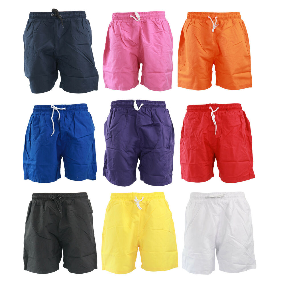 N34 Mens Designer Mesh Lined Shorts Swimming Holiday Beach