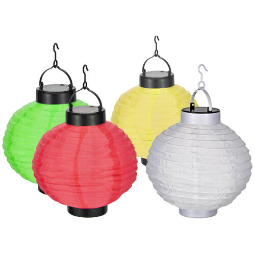 anmutiger led solar lampion bunt 30 cm lampions solarlampion chinesische laterne ebay. Black Bedroom Furniture Sets. Home Design Ideas