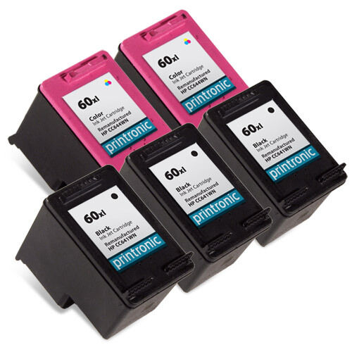 5 pk hp 60xl ink cartridge deskjet f4400 f4435 f4440 f4450 f4480 f4500 f4580 ebay. Black Bedroom Furniture Sets. Home Design Ideas