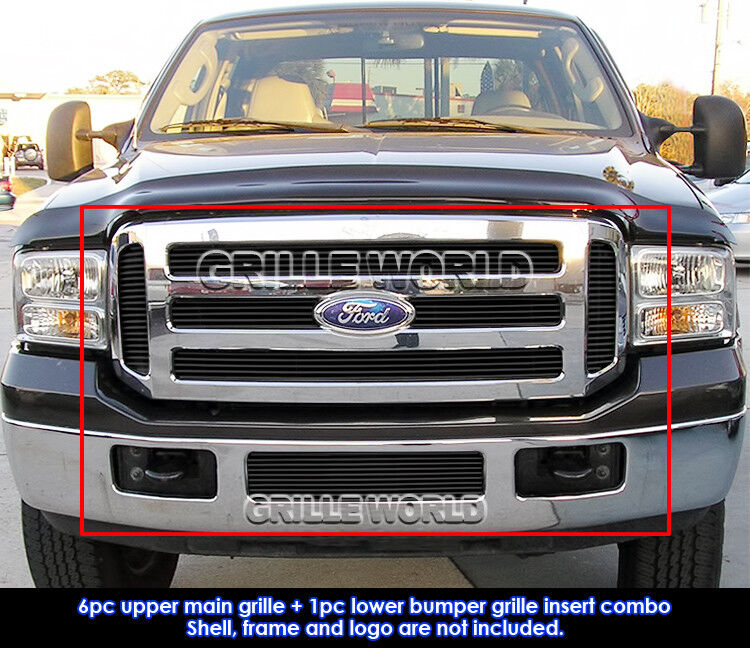 Ford F 350 Super Duty Carpet Replacement 99 07: Fits 05-07 Ford F250/F350 Super Duty Black Billet Grille