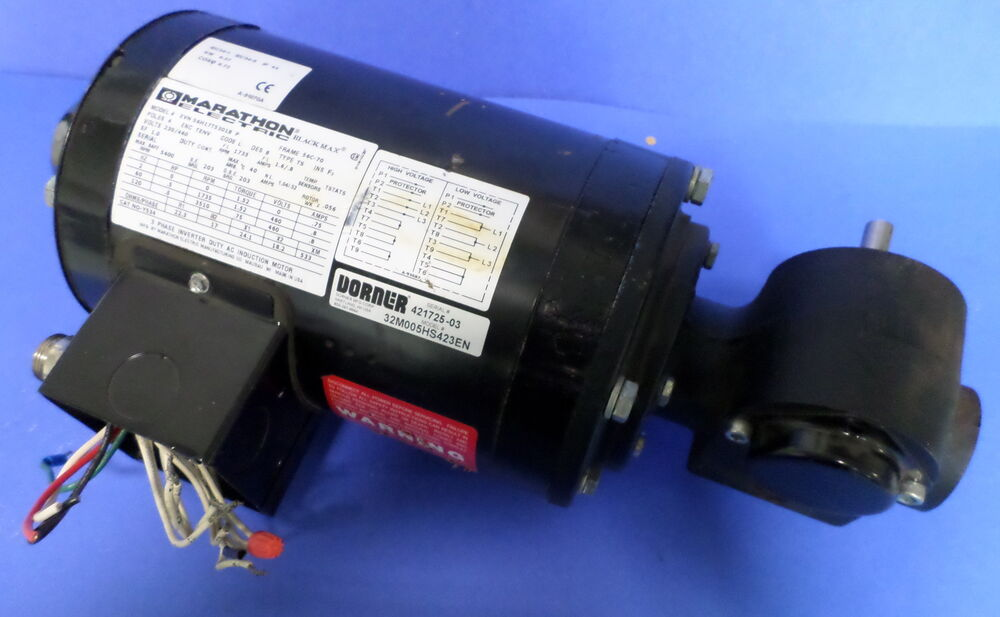 Marathan electric black max 4 pole 230 460v inverter motor for Marathon black max motors