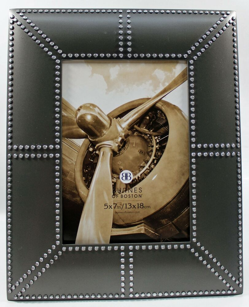 4x6 4 x 6 pewter silver metal photo picture frame industrial deco style new ebay. Black Bedroom Furniture Sets. Home Design Ideas