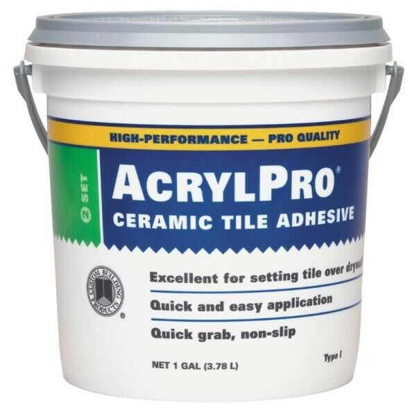 New Acrylpro Arl40001 Gallon White Ceramic Tile Adhesive