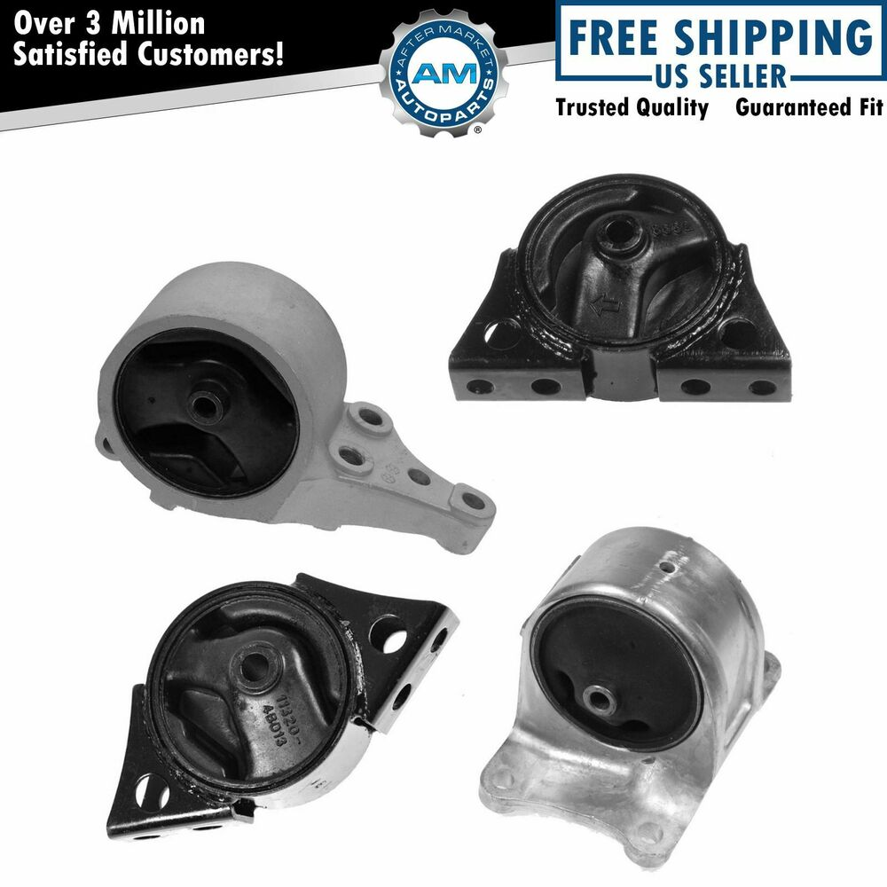 Engine Motor Automatic Transmission Mounts Kit Set Of 4 For 98 01 Altima 2 4l Ebay